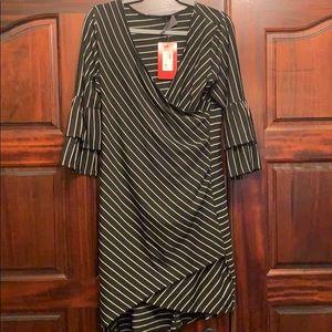 NWT Sunday in Brooklyn black striped dress